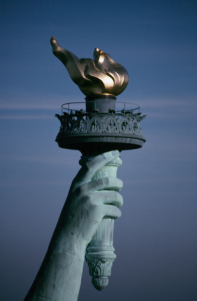Torch of the Statue of Liberty (Right hand held high)