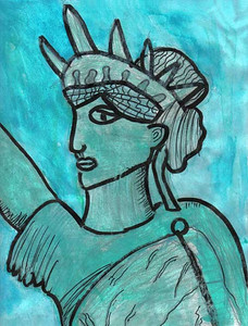 Statue of Liberty 2006/2007 Drawing Contest Finalist — Lilian, age 8 (Pittsburgh, Pennsylvania)