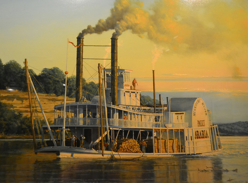 Steamboat Arabia on the Missouri River.<br /> Sunk in 1856.