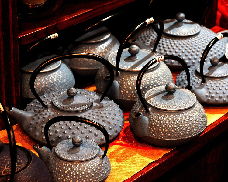 Teapots in Les Halles, Paris