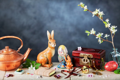 A bizarre, yet  meaningful Spring still life