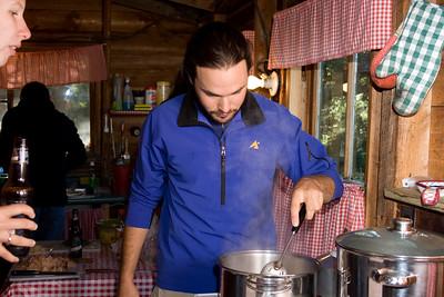 Nathan cooking.