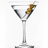 Vodka martini on white