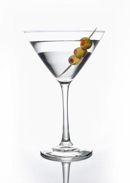 Vodka martini on white