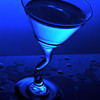 Artistic blue martini