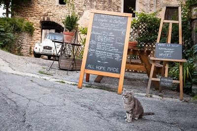 Provencal dinner in village Saignon, Provence, France