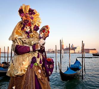 Mask on Venetian carnival, Venice, Italy (2012)