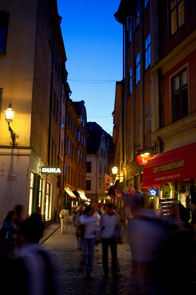 Stockholm, Sweden - ESC 2005 - General Views of Stockholm (Old Town) @ night  here today, Sunday September 4, 2005 at the European Cardiology Society's annual Congress in Stockholm. Dr. Remme was discussing the PREAMI trial using prendopril. Photo by © MMG/Todd Buchanan 2005 Technical Questions: todd@toddbuchanan.com; Phone: 612-226-5154.