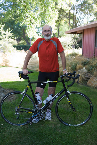 This Felt F75 was my first great road bike. It has been stolen. The wheels are different now, custom, but the bike looks the same. Ultegra derailers.