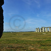 The entire circle of Stonehenge with the shadow of the heel stone on Salisbury Plain, england at the time of the summer solstice