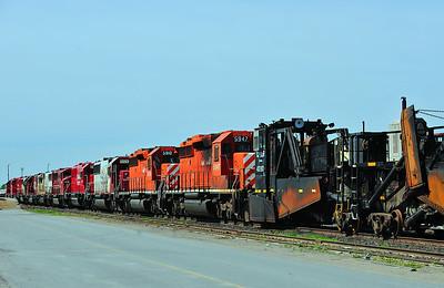 Locomotives Storage St Luc