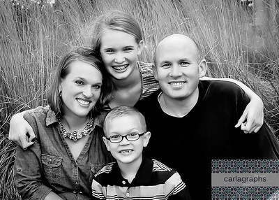 Family in the Tall, Tall Grass, Tight Crop bw (1 of 1)