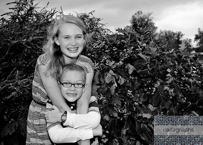 Brother and Sister bw (1 of 1)