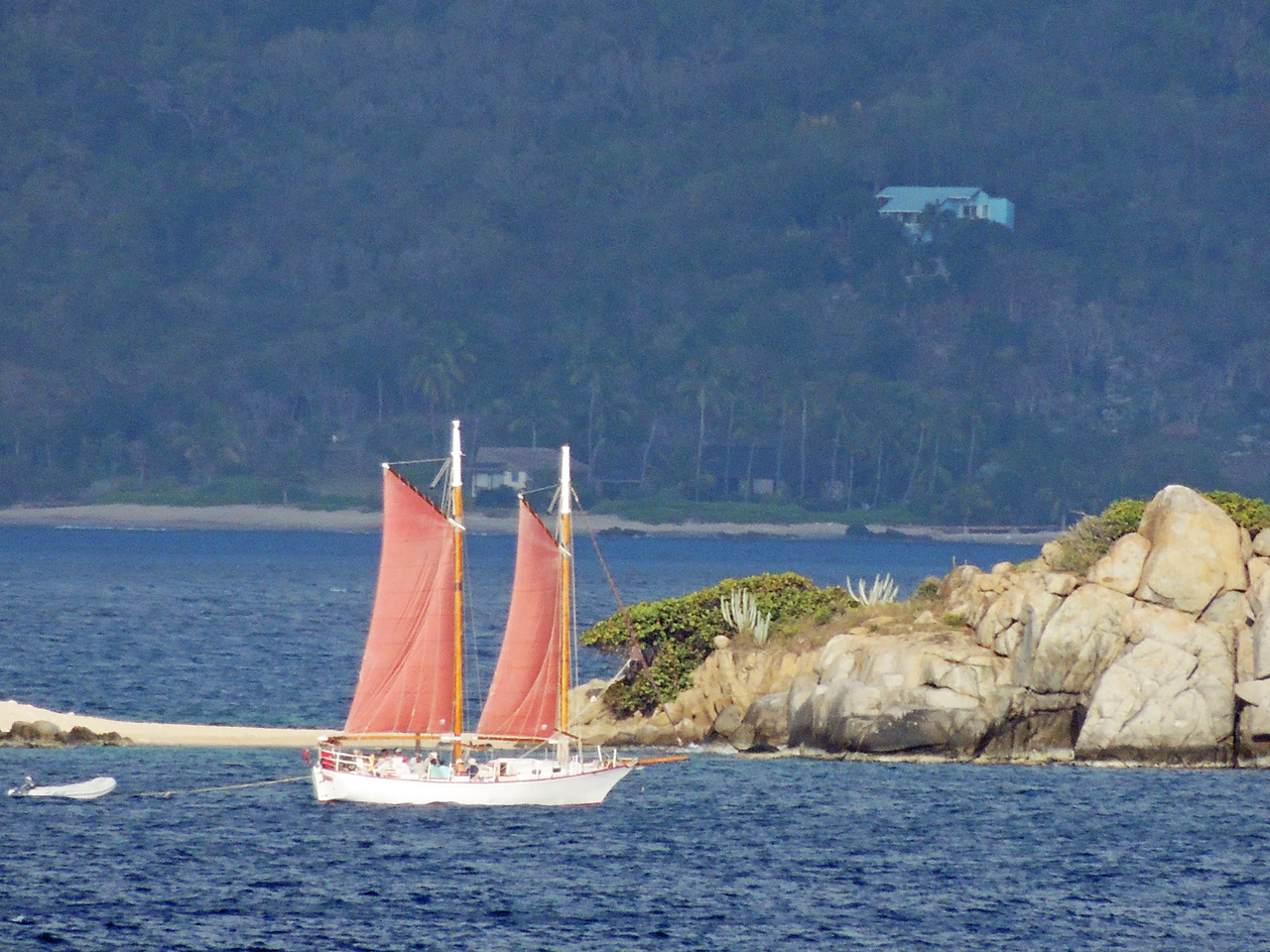 sailboat in Straits of Magellan
