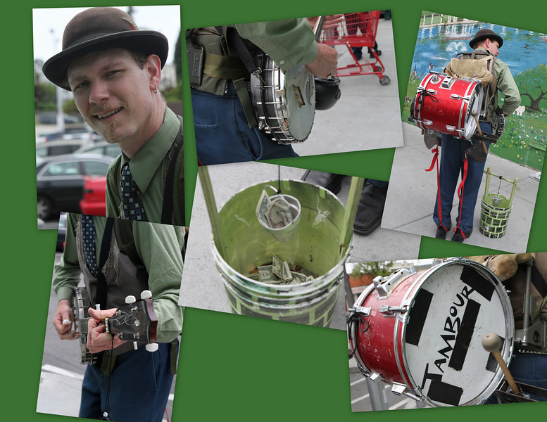A strummin and a drummin up some cash in the wishing well - see the Web Album for S.L. Gomper
