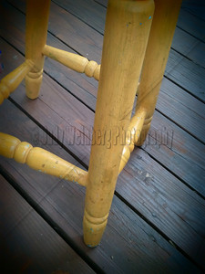 Yellow Stool Legs