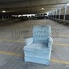Parking the Blue Chair. A good spot is hard to find