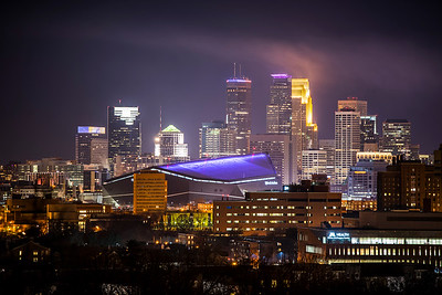 U.S. Bank Stadium in Purple
