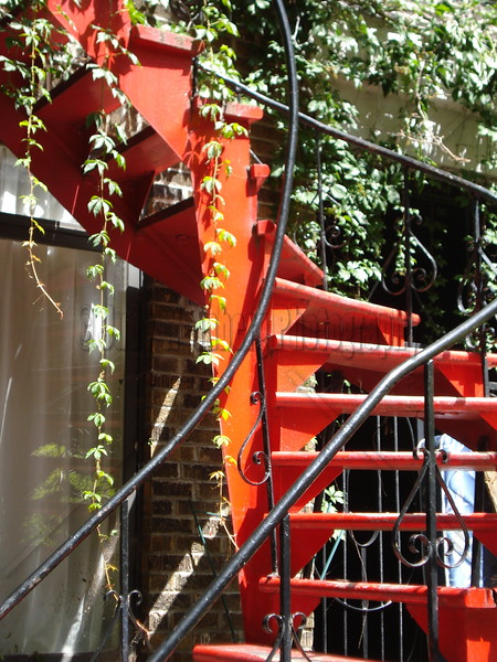 Red Stairs - Montreal, Canada