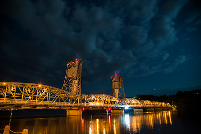 Cloudy Night at the Lift Bridge