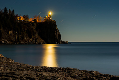 Lighting of Split Rock
