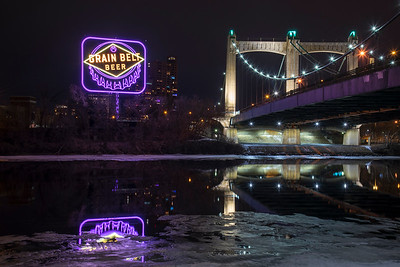 Grain Belt Beer Sign in Purple