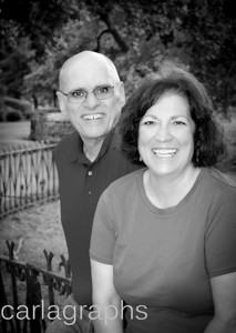 Linda and Paul on the Fence BW-