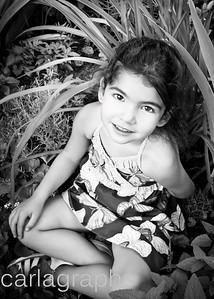 Bella in Foliage BW Crop-