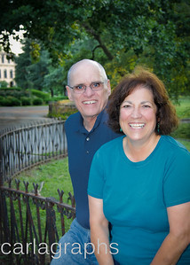 Linda and Paul on the Fence -