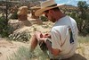SCA Team Leader Mike Kirkpatrick, based out of the BLM Kanab Field Office during the summer of 2004.