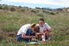SCA Team Members work on plant identification, working out of the BLM Carson City Field Office, during the summer of 2004.