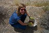 Team Leader Sarah Hunkins, based out of the BLM Las Vegas Field Office, summer 2003.