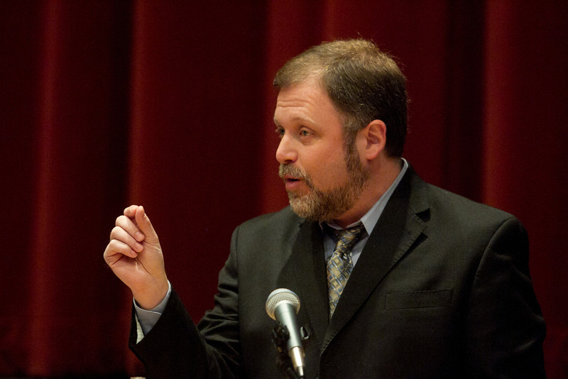 Author Tim Wise speaks at the Commission on Diversity in Independent Schools' 10th annual Student-Adult Diversity Leadership Conference at King on Saturday, April 21, 2012.