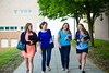 Undergraduate Student Celeliaa Destefano and Friends on the North Campus<br /> <br /> Photographer: Douglas Levere