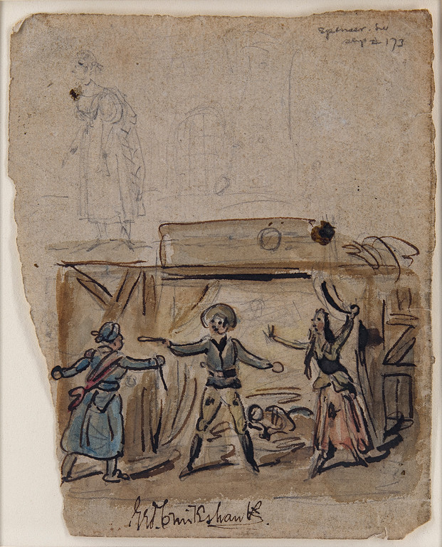 George Cruikshank drawing