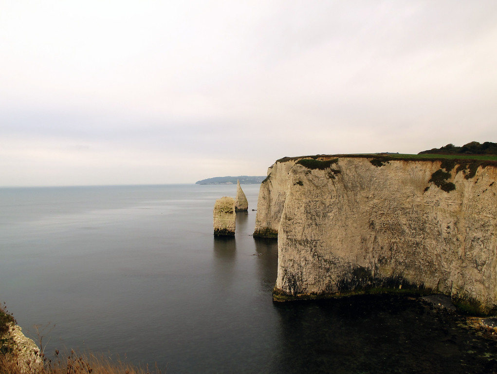 The view along the cliffs towards Swanage.