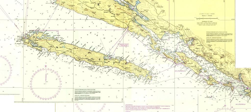 Sailing area off Dubrovnik