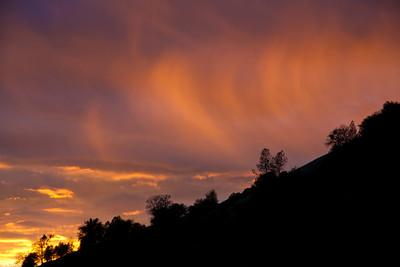 Rain at sunset over Bridgeport State Park