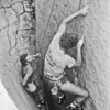 Marc Hughston and Bruce Carlson on Jaws 5.10D, Mt. Woodson 1983