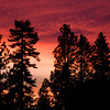 Sunset over Nevada County