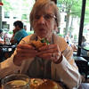 Aunt Barb enjoying a sandwich at The Carlyle restaurant in Shirlington.
