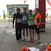 Before Luxembourg team run. Thiery, Jaime, María, Sophia.