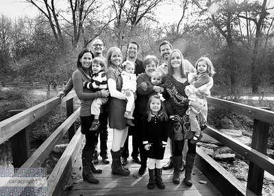Fam on the Bridge bw (1 of 1)
