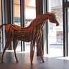 "complete with Heather Jansch ""rip off"" style  driftwood scultures"