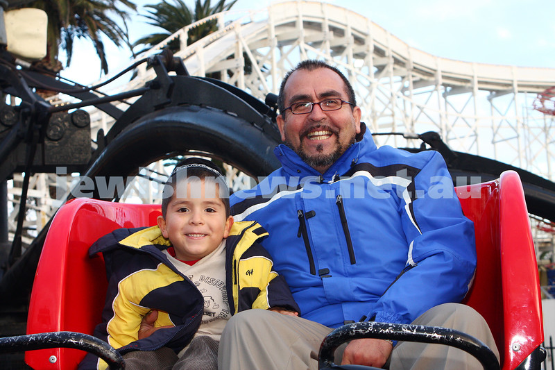 Chabad Youth. Sukkot at Luna Park 2009. Shmuel (left) and Shlomo Montoya. photo: peter haskin