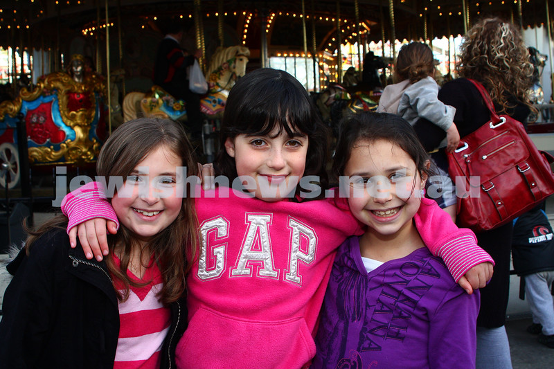 Chabad Youth. Sukkot at Luna Park 2009. From left: Yael Gosling, Elli Wyman, Amit Slonim. photo: peter haskin