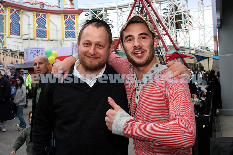 Chabad Youth. Sukkot at Luna Park 2009. Moshe Kahn and ???. photo: peter haskin