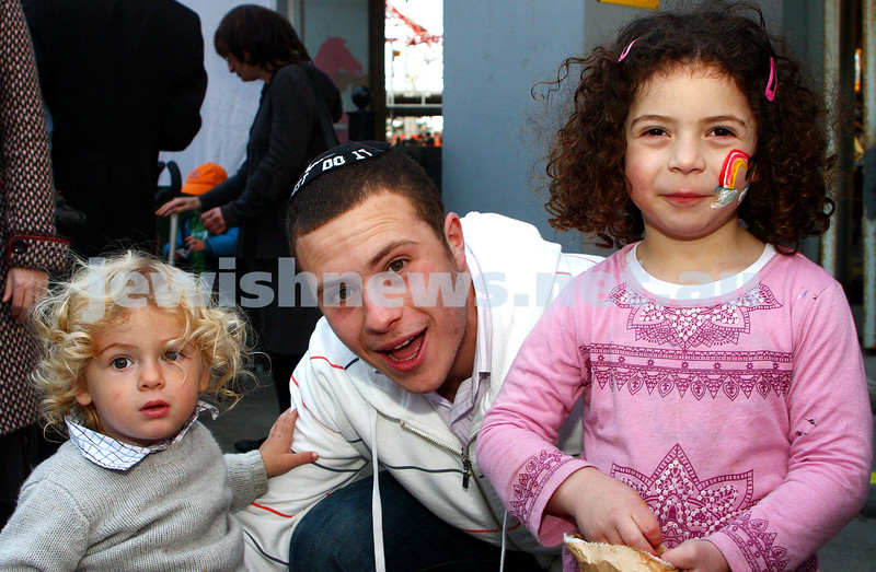 Chabad Youth. Sukkot at Luna Park 2009. From left: photo: peter haskin