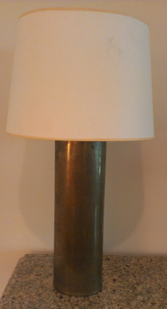 Pair of heavy brass, high end decorator lamps.
