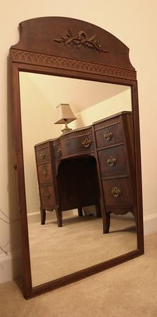 Matching mahogany mirror